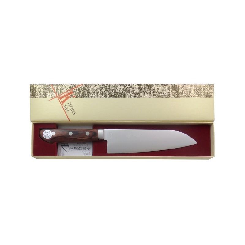 Couteau Japonais Santoku à Viande, Fruits et Légumes 165 mm - Fabriqué au Japon