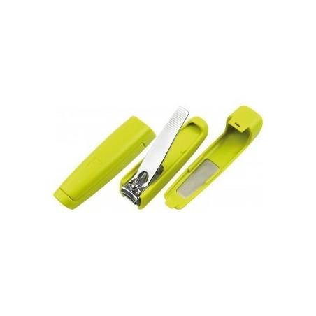 Tagliaunghie Professionale in Acciaio Inox con Limetta e Contenitore Raccogli Unghie Tenartis Manicure