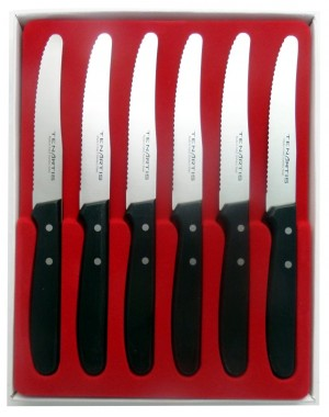 Set of 6 Table, Steak, Pizza, Fruit Knives - Tenartis Made in Italy