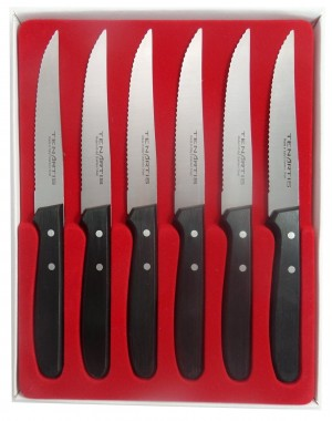 Set of 6 Steak Knives 11.5 cm/4.5 inch blade - Tenartis Made in Italy