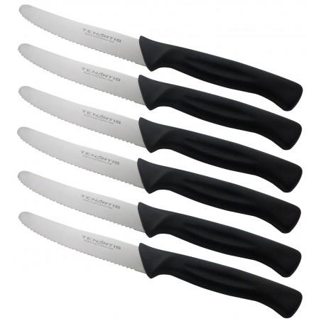 Set de 6 Couteaux de Table, Steak, Pizza, Fruits lame 11 cm - Tenartis Fabriqués en Italie