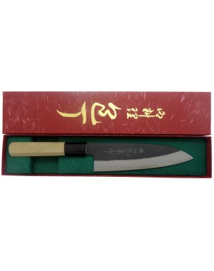 Original Japanese Santoku Knife for Meat, Fish and Vegetables with 17 cm/6.75 inch blade - Made in Japan