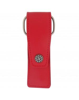 3 teiliges Maniküre Etui mit Nagelschere, Nagelfeile und Pinzette, echtem Leder mit Swarovski - Tenartis Made in Italy