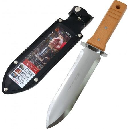 Couteau de Jardin, Transplantoir Hori Hori en Acier Inox - Nisaku 802 Fabriqué au Japon
