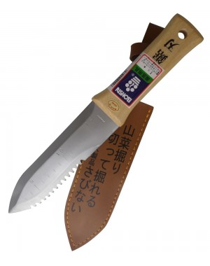 Hori-Hori Stainless Steel Japanese Trowel / Soil, Planting and Weeding Tool - Bonsai Made in Japan