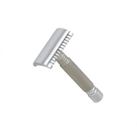 Open Comb Safety Razor, Chrome and Titanium - Castiles Original