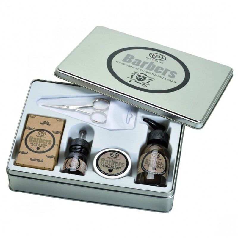 5 teiliges Deluxe Bartpflege Set - Barbers by Baruffaldi