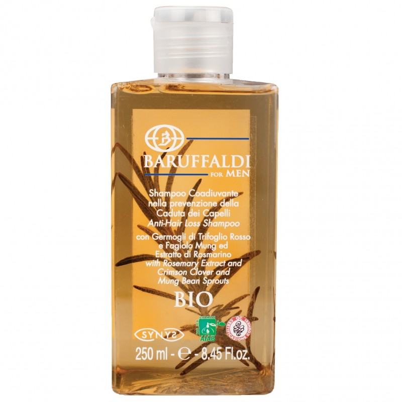 Shampoo Anticaduta BIO con Estratto di Rosmarino 250 ml - BaruffaldiBio for Men Made in Italy