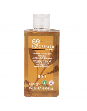 Champú Anticaspa BIO Hombre con Hoja de Salvia y Extracto de Epilobium 250 ml - BaruffaldiBio for Men Made in Italy