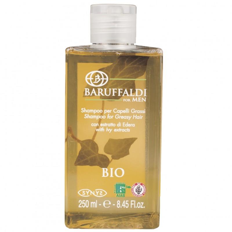 Shampoo per Capelli Grassi BIO Uomo con Estratto di Edera 250 ml - BaruffaldiBio for Men Made in Italy
