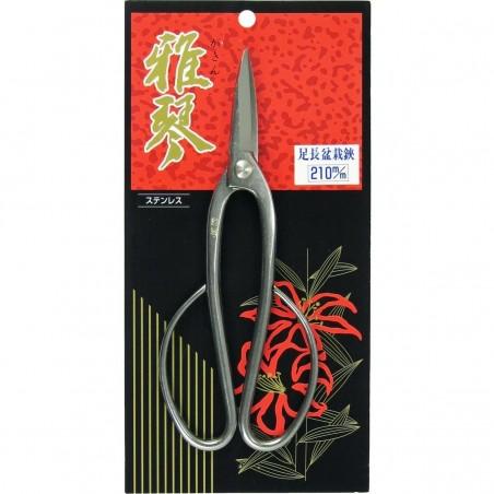 Stainless Steel Bonsai Scissors Butterfly 19.5 cm/7.5 inch - Gakin 7005 Made in Japan