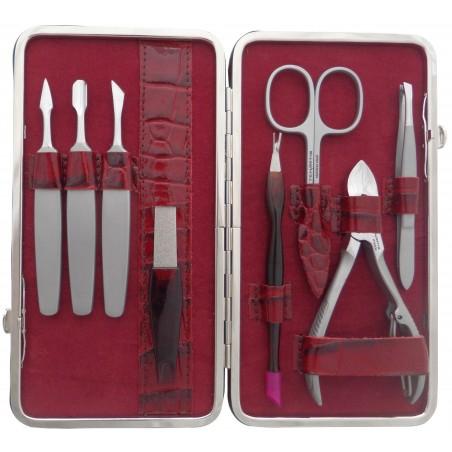 8-Piece Genuine Leather Manicure Set