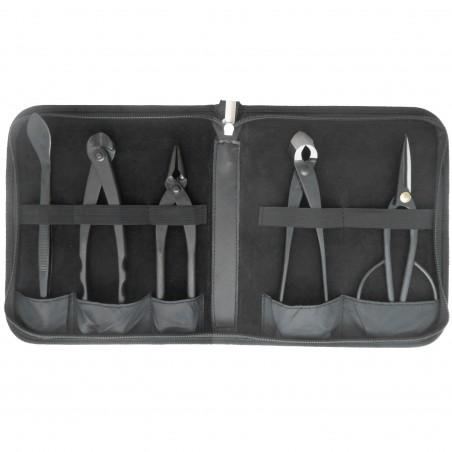 5-Piece Bonsai Tool Holder with Zipper (Empty)