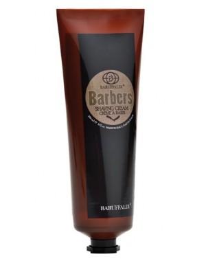Set per Rasatura Barba: Crema da Barba, Gel Dopo Barba Energy Barbers by Baruffaldi Made in Italy con Pochette in Vera Pelle