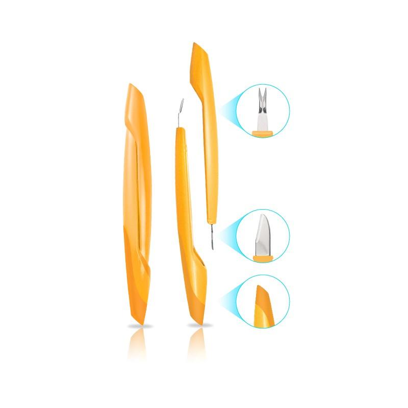 Strumento Manicure 3 in 1: Spingipelle, Tagliacuticole, Pulisciunghie