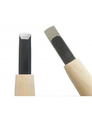 Couteau de Sculpture Carvy Lame Droite 9 mm - Michi Hamono Fabriqué au Japon