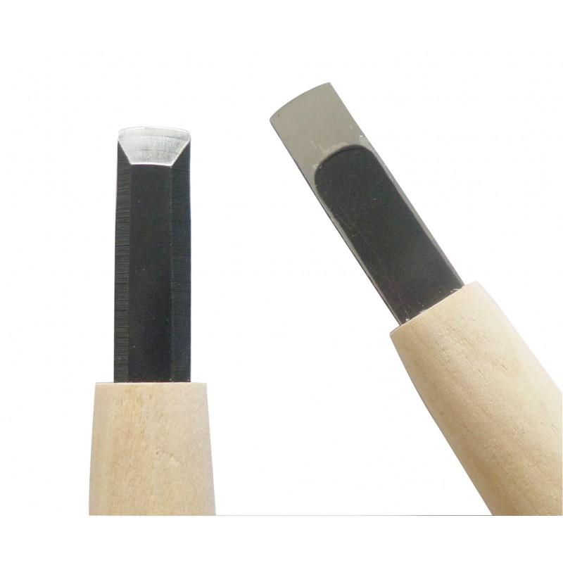 Coltello da Intaglio Legno Lama Retta 9 mm - Carvy Michi Hamono Made in Japan
