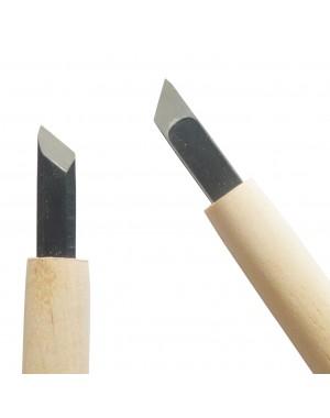 Couteau de Sculpture Carvy avec Lame Droite et Tranchant Oblique 9 mm - Michi Hamono Fabriqué au Japon