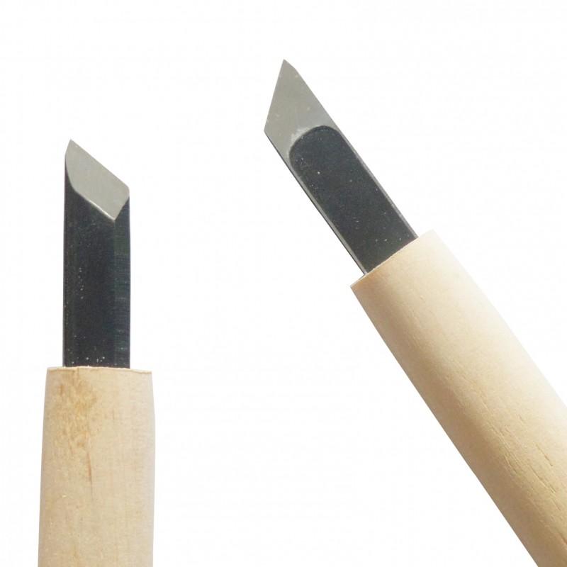Cuchillo para Tallar Madera con Hoja Sesgada 9 mm - Carvy Michi Hamono Made in Japan