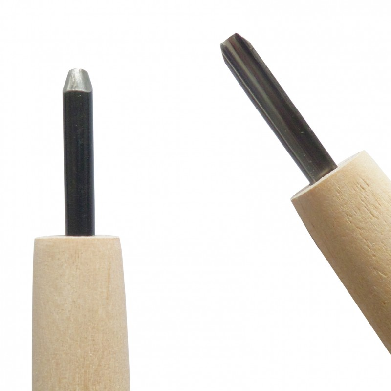 Coltello da Intaglio Legno, Sgorbia Lama Tonda 3 mm - Carvy Michi Hamono Made in Japan
