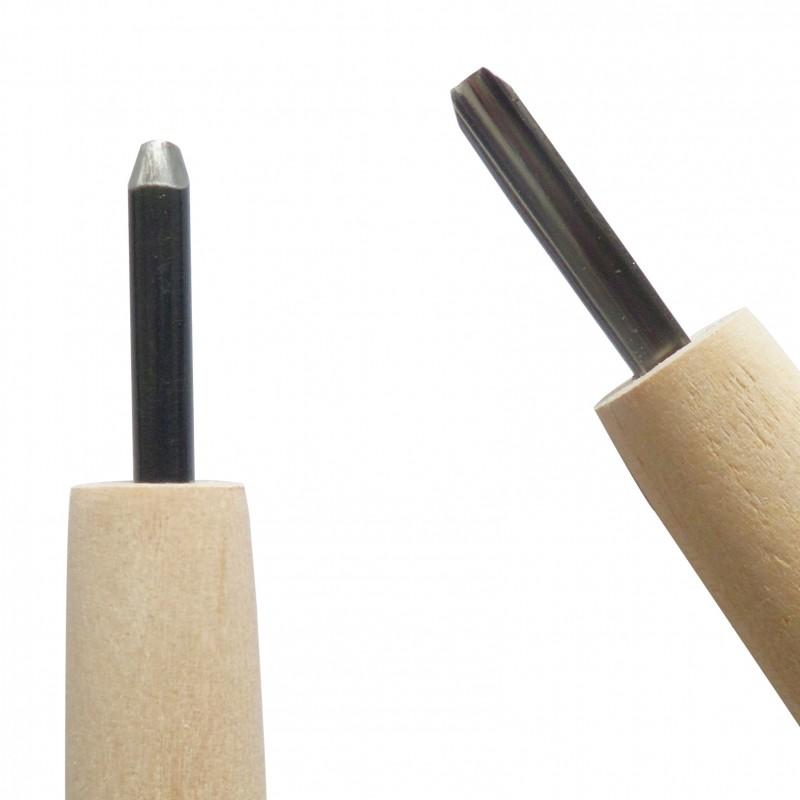 Couteau de Sculpture Carvy, Gouge 3 mm - Michi Hamono Fabriqué au Japon