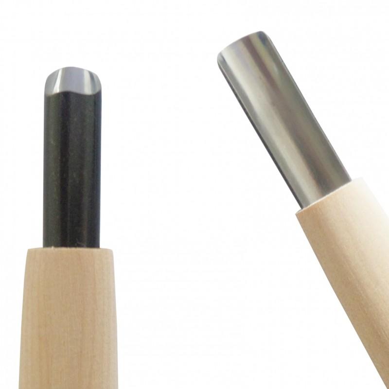 Coltello da Intaglio Legno, Sgorbia Lama Tonda 9 mm - Carvy Michi Hamono Made in Japan
