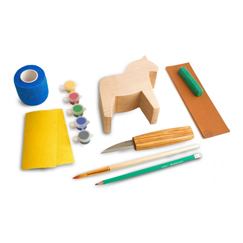 BeaverCraft Dala Horse Carving Kit DIY02