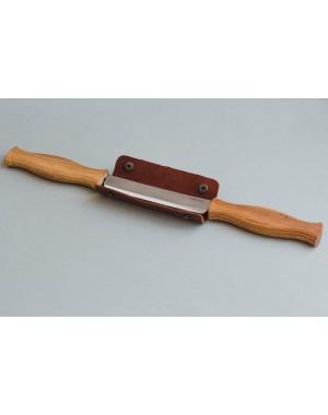 Zugmesser mit 2 Holzheften, Gerade Klinge mit Lederscheide - BeaverCraft DK1S