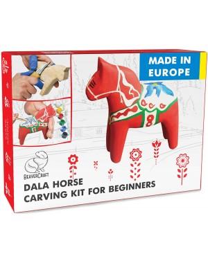 """Kit de Sculpture sur Bois """"Dala Horse"""" - BeaverCraft DIY02"""