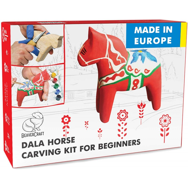 "Juego para Tallar Madera ""Dala Horse"" - BeaverCraft DIY02"