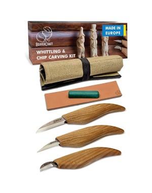 Set 3 pièces Couteaux de Sculpture sur Bois - BeaverCraft S15