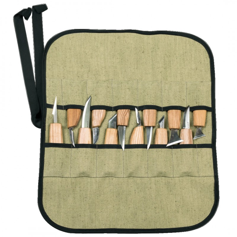 Tool Roll for 12 Wood Carving Knives - BeaverCraft TR12 (Empty)