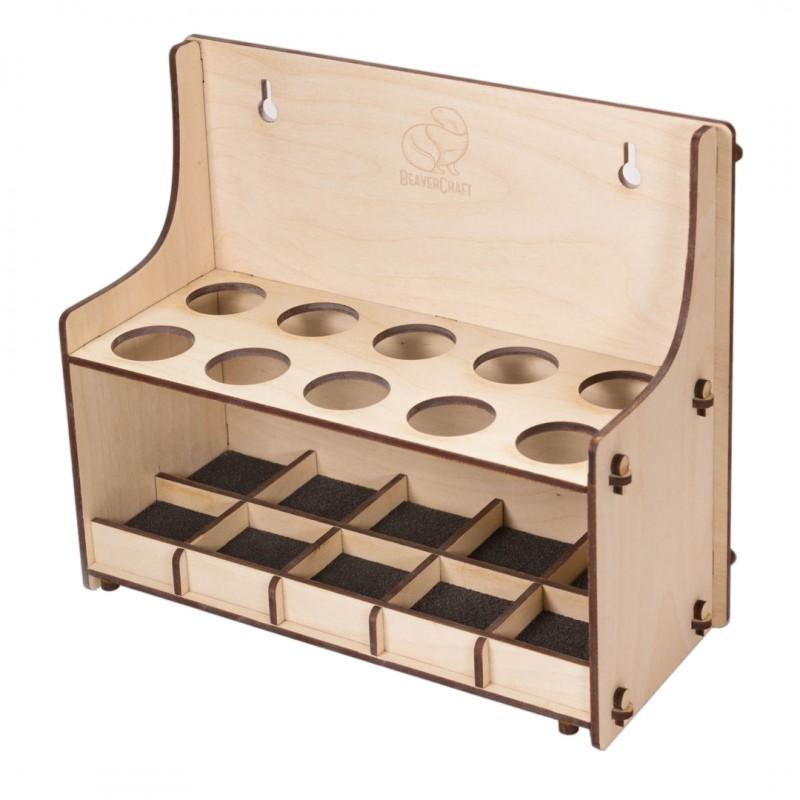 10 Teiliges Werkzeughalter für Holzschnitzwerkzeuge - BeaverCraft TH10 (Leer)