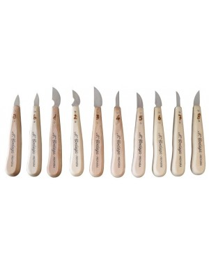 Chip Wood Carving Knife Set 10 pieces - Codega Made in Italy