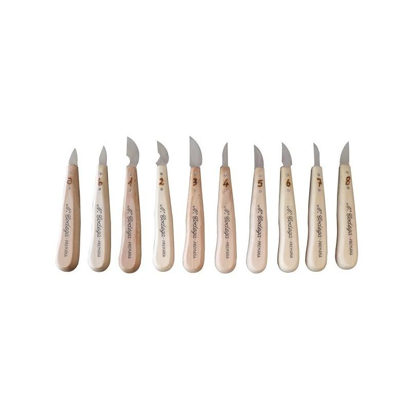Coltelli da Intaglio Legno Serie Completa da 10 Pezzi - Codega Made in Italy