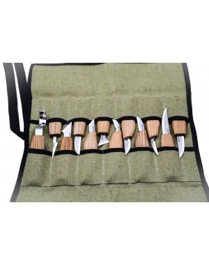 Set 12 Coltelli per Intagliare il Legno - BeaverCraft S10