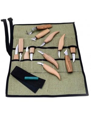 Set 12 pièces Couteaux de Sculpture sur Bois - BeaverCraft S10