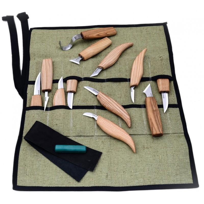 Juego de 12 Cuchillos para Tallar Madera - BeaverCraft S10
