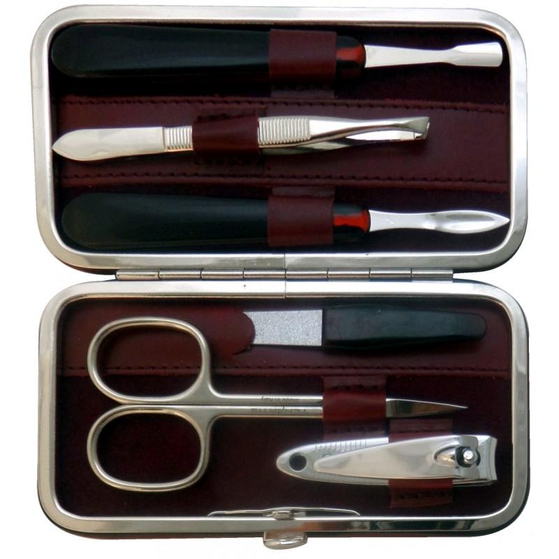 Set Manicure 6 Pezzi in Vera Pelle  - Tenartis Made in Italy