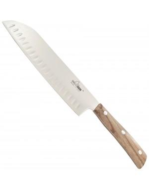 Couteau de Cuisine Japonais Santoku 19 cm Iside avec Manche en Olivier