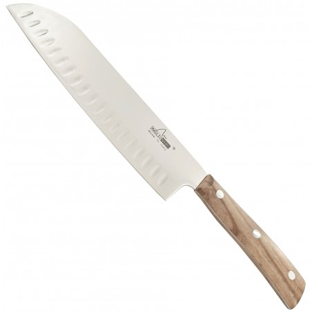 Coltello da Cucina Santoku 19 cm Linea Iside con Manico in Ulivo