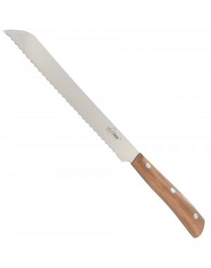 Couteau à Pain 21 cm Ligne Iside avec Manche en Bois d'Olivier