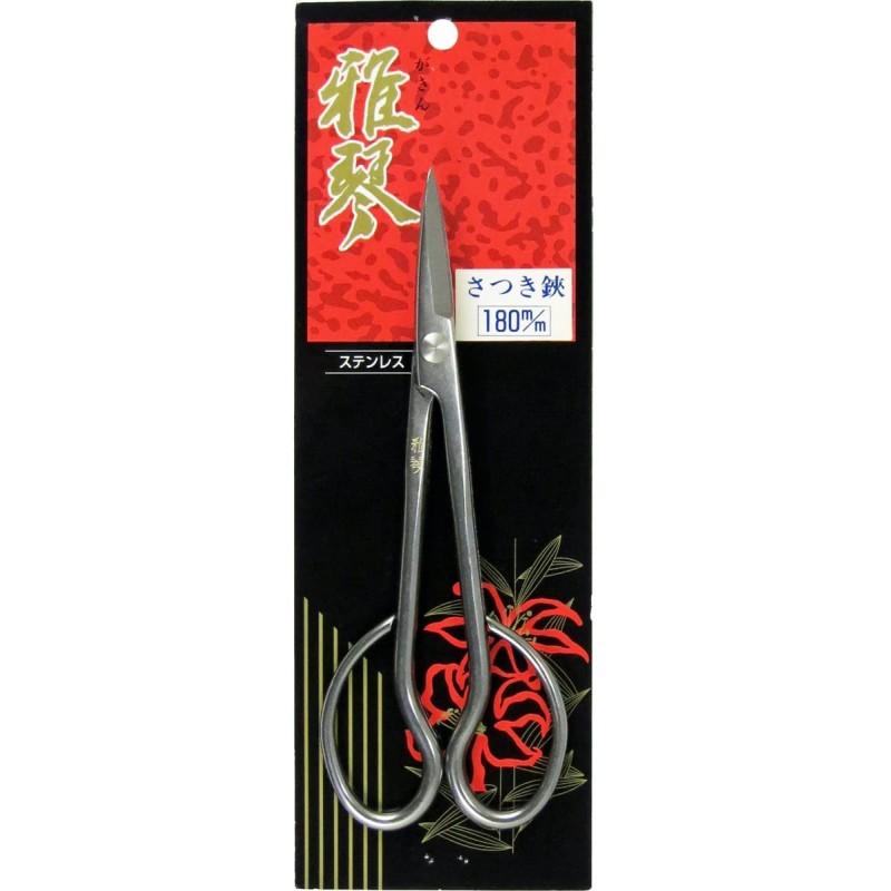 Ciseaux Bonsaï Satsuki en Acier Inox 18 cm - Gakin 7006 Fabriqués au Japon