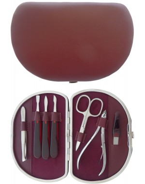 7-Piece Genuine Leather Manicure Set - Tenartis Made in Italy