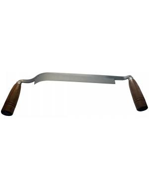 Plane à lame courbe avec 2 poignées en bois