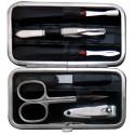 Set Manicure 6 Pezzi in Vera Pelle Grigio Croco - Tenartis Made in Italy