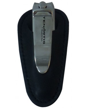 Nail Clipper with Black Nappa Genuine Leather Case - Tenartis Made in Italy